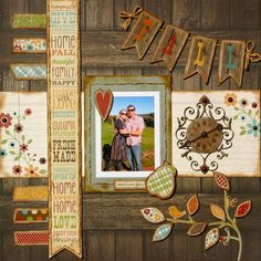 #papercraft #scrapbook #layout    Simple stories