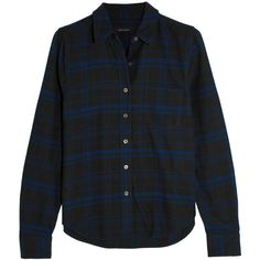 Kate Moss for Equipment London checked brushed-cotton shirt (€415) ❤ liked on Polyvore featuring tops, t-shirts, blue, shirt top, slim t shirt, slim-fit shirt, checkered top and slim shirt