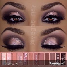 "makeupyolife: ""@vegas_nay is such an inspiration! Love love love her work. #inspiring #mua #tutorial Repost by @vegas_nay ""Steps to #urbandecaycosmetics Naked Palette 3 eyeshadows 1.) prime eyes and..."