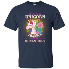 I am a Unicorn Trapped in a Human Body shirt tank top sold by iFrogtees