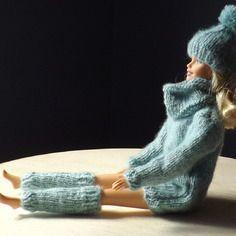 Ensemble tricot pour poupée barbie