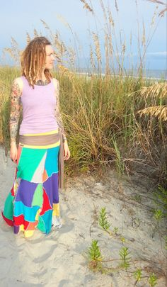 Up Cycled Patchwork Hippie skirt/dress. $95.00, via Etsy.