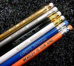 Wizard Quotes Pencil Set PRE-ORDER. $11.00, via Etsy.