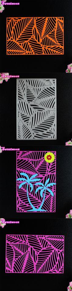 Leaf Texture Plate Scrapbook Card Metal Die Cutting Dies For DIY Scrapbooking Cut Paper photo album Decorative Embossing