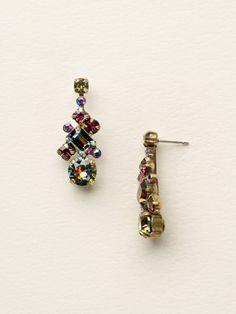 Glittering Multi-Cut Crystal Earring in Volcano by Sorrelli - $70.00 (http://www.sorrelli.com/products/ECF6AGVO)