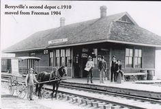 Berryville, AR 2nd depot c.1910 moved from Freeman, AR c. 1904