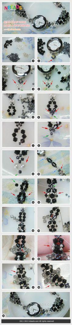 Bead Craft Ideas - Make A Watchband – Nbeads Daily update on my site: ediy3.com