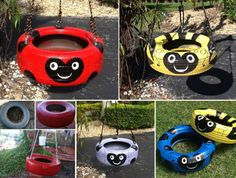 Just when you thought there was no use for those old tyres! You'll love to make this Ladybug Swing!