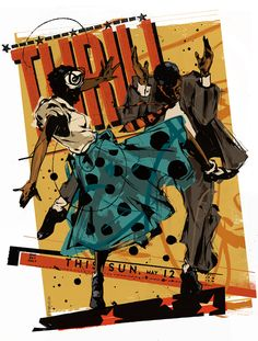 Illustrator Martin French {Part French Illustration, Graphic Illustration, Swing Jazz, Swing Dancing, Music Drawings, Jazz Art, Unique Poster, Afro Art, African American Art