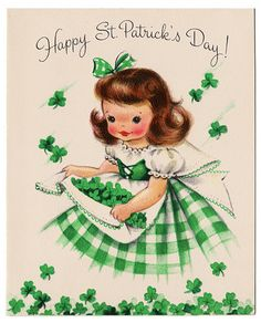 Happy St. Patrick's Day from Pin Up Girl Coffee! :: Vintage St. Patrick's Day:: Retro