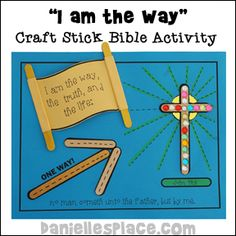 Christian crafts for children about Jesus being the Way, the Truth and the Life including coloring sheets, hands-on activities, Bible verse activity sheets and games. Bible Verse Crafts, Jesus Crafts, Bible School Crafts, Bible Crafts For Kids, Sunday School Projects, Sunday School Activities, Bible Activities, Sunday School Lessons, Bible Stories For Kids