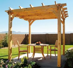 DIY Backyard Pergola with Free Plan Backyard Pergola, Pergola Ideas, Garden Landscaping, Veranda, Beautiful Gardens, Outdoor Structures, Landscape, Pergolas, Patio