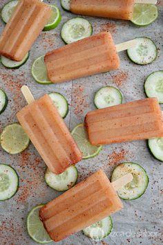 Paletas de pepino con limón www.pizcadesabor.com