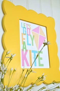 """""""Let's Go Fly A Kite"""" Free Spring Printables!"""