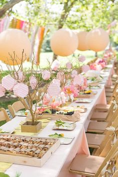 Outdoor Party Decoration with Balloons