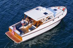 The Ellis 36 - Ellis Boat Company - Ellis Boat Company Fishing Boats For Sale, Bass Fishing Boats, Boat Building Plans, Boat Plans, Yacht Design, Boat Design, Speed Boats, Power Boats, Cabin Cruiser Boat