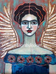 The Red Robe Frida Kahlo Mixed Media Fine Art by KaraBullockArt Original Artwork, Original Paintings, Frida Art, Australian Painters, National Art, Mexican Folk Art, Art Journal Pages, Art Journals, Book Of Life