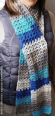 Crochet For Beginners Make this Basic V-Stitch Scarf for donation projects. All you need is one ball of medium weight yarn and a mm (I) crochet hook. This is a beginner friendly project and includes a video! Get the pattern here, for free, today! Crochet Scarf For Beginners, Crochet Scarf Easy, Beginner Crochet Projects, Beginner Knitting, Knitting Projects, Simple Crochet, Crochet Scarfs, Crochet Patterns For Scarves, Crochet Scarf Tutorial
