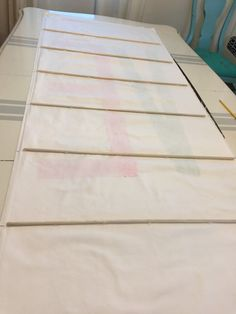 DIY roman shades using wooden dowels & nylon cord (not mini blinds)