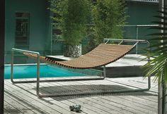 Hanging hammock sun lounger