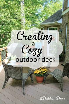 Utilizing every square inch of your home to make it cozy. We live in our home and I like for the outside to be an extension of it. How to create that cozy feeling.