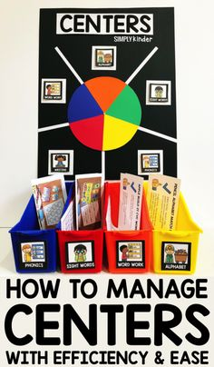 Centers Management – Simply Kinder Centers management is super easy when you use a centers wheel. We will show you how we use ours and to run your centers with efficiency and ease. Kindergarten Center Rotation, Kindergarten Lesson Plans, Kindergarten Centers, Kindergarten Classroom, Kindergarten Center Organization, Classroom Ideas, Kindergarten Center Management, Classroom Organization, Kindergarten Literacy Centers
