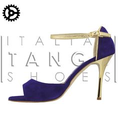 "customized by an our customer: ""Beso"" model in deep purple suede and gold leather... so beautiful and elegant!.... :-)  Now available at http://www.italiantangoshoes.com/shop/en/women/292-alagalomi.html"