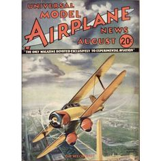Vintage Plane Posters | Model Airplane News Vintage Cover Poster - August 1934