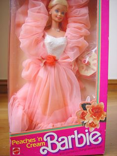 Peaches n Cream Barbie - OMG!!  One of my FAVE from when I was little!  Steph - you remember playing with her for hours?!