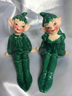 Vintage California Gilner Pixie Elf Figurines