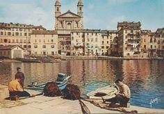 Bastia. Le Vieux Port. Vue depuis le Quai Sud.