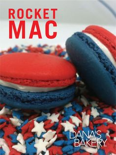 Celebrate the 4th of July with a bang!! Just like the popsicles, the (lemon) Rocket Mac is available for pre-order! Dana's Bakery macarons are kosher, gluten free, and shipped fresh nationwide. If you would like to order any of these flavors, please visit our website (www.danasbakery.com) or contact our Customer Service Team by calling (800) 477-1816 / info@danasbakery.com. #macarons