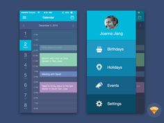 Free Sketch File for Download: Calendar Mobile UI by Joanna Jiang