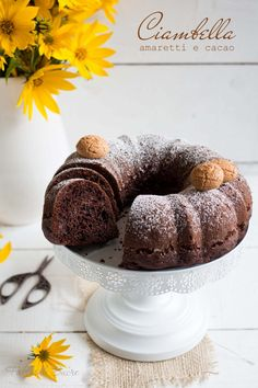 Ciambella amaretti e cacao - Fables de Sucre Sweet Corner, Bakery Cakes, Afternoon Snacks, Doughnut, Muffin, Sweets, Dishes, Baking, Breakfast
