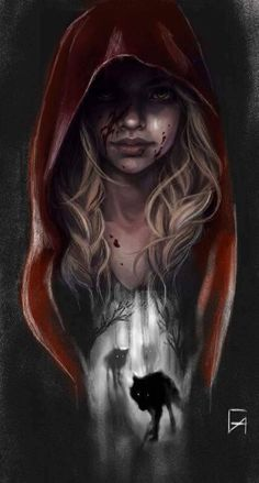 le of her village called her. Such a lov. Red Riding Hood, the oh so ordinary people of her village called her. Such a lov… Red Riding Hood, the oh so ordinary people of her village called her. Such a lovely pet name. If only they knew. Dark Art Drawings, Wolf Girl, Digital Art Girl, Arte Horror, Dark Fantasy Art, Dark Gothic Art, Pet Names, Red Riding Hood, Little Red