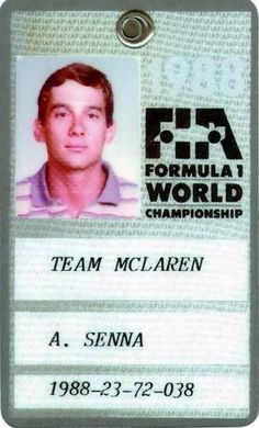 """Spotted: one fresh-faced Ayrton Senna on his paddock pass from Pure old school cool. Jackie Stewart, Motogp, San Marino Grand Prix, Jochen Rindt, Ferrari, Maserati, Formula 1 Car, F1 Drivers, F1 Racing"