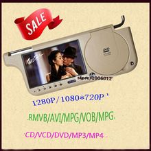 Left or Right 7 Car Sun Visor Monitor 2 Channel Video player for DVDSVCDVCDCD MP5MP3MP4 RMVB  +FM Transmit