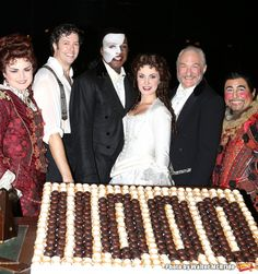 Photo Coverage: Norm Lewis, Sierra Boggess & THE PHANTOM OF THE OPERA Cast Celebrate 11,000 Backstage - Michele McConnell, Greg Mills, Norm Lewis, Sierra Boggess, Tim Jerome and Christian Sebek