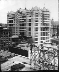 The Los Angeles Hall of Records was constructed between 1909 and Originally located at 220 N. Broadway, the building was eventually razed in September, This photograph looks to be taken between 1933 and (LAPL) Bizarre Los Angeles. Los Angeles County, Downtown Los Angeles, Los Angeles California, Southern California, California History, Harlem Renaissance, Bauhaus, Art Deco, Cities