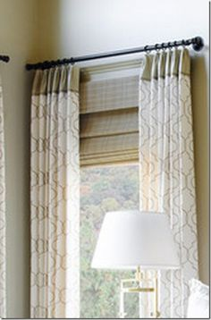Use A Rod Without Finials To Hang Curtains In Tight Spaces