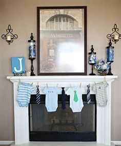 IF it happens to be a boy(BUT Auntie Ciara is praying for girl lol) this would be awesome to hang onesies with little ties!! perfect!!