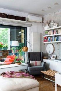 Un apartament cochet și luminos din București. Sau cum să trăiești armonios într-un spațiu mic.