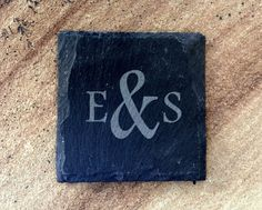 4 Custom Engraved Slate Coasters Personalized by EngraveMeThis