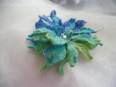 Felted Flower by Lanchen on Etsy, $21.00