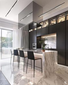 Kitchen countertop materials: pros and cons Modern Kitchen Design Cons Counterto Luxury Kitchens Luxury Kitchen Design, Kitchen Room Design, Best Kitchen Designs, Luxury Kitchens, Home Decor Kitchen, Rustic Kitchen, Interior Design Kitchen, Modern Interior Design, Home Kitchens