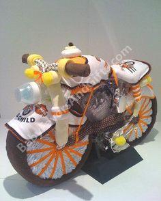 Harley Davidson Diaper Cake   9990221   Baby Boy   Diaper Cakes   By  Babyfavorsandgifts