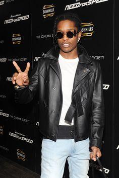 Asap Rocky Outfits, Asap Rocky Fashion, Pretty Flacko, Cinema, Leather Jacket, Mens Fashion, Photo And Video, Jackets, Instagram