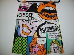 Size 10 Gossip Comic Skirt by StitchedUpBySmith on Etsy