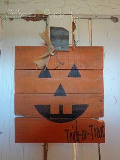 JackOLantern Pumpkin Pallet Wood Sign by McKennaMadeIt2013 on Etsy, $20.00