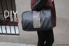 DIY - a fashion bag! - Cómo hacer maxi bolso de cuero y tachuelas